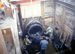 室蘭地区工業用水道改築事業配水管接合工事
